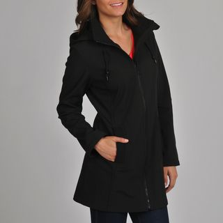 London Fog Womens Black Soft Shell Active Jacket