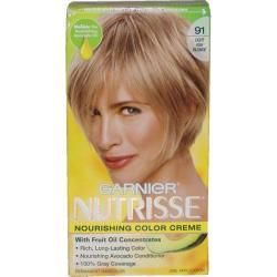 Garnier Nutrisse Nourishing Color Creme #91 Light Ash Blonde Hair