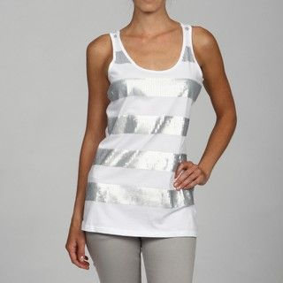 RXB Womens Sequin Striped Tank