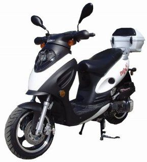Dash TPGS 804 Gas 150cc Moped Scooter w/ Rear Mounted