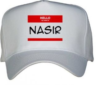 HELLO my name is NASIR White Hat / Baseball Cap Clothing