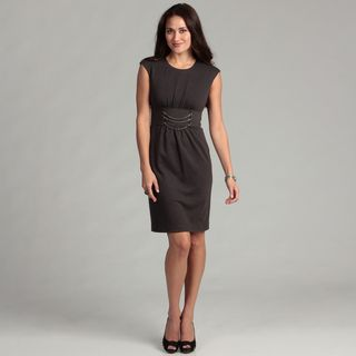 Calvin Klein Womens Charcoal Chain Detail Dress