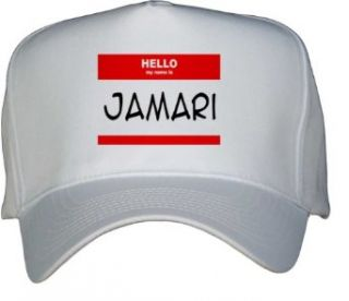HELLO my name is JAMARI White Hat / Baseball Cap Clothing
