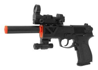 Electric Full Auto Tactical P88 Pistol FPS 150, Silencer