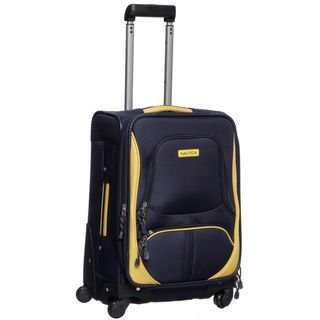 Nautica Downhaul Navy/ Yellow 20 inch Carry On Spinner Upright