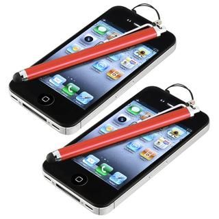 Red Touch Screen Stylus for Apple iPhone/ iPod/ iPad (Pack of 2