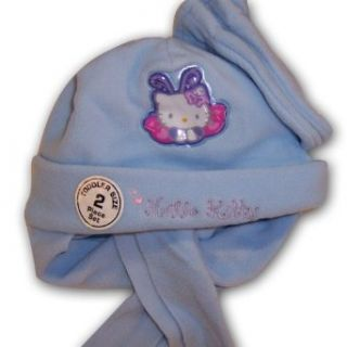 Sanrio Hello Kitty Girls Light Blue Fleece Hat with