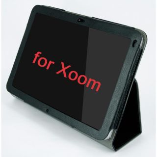 SKQUE Motorola Xoom Tablet Black Leather Case