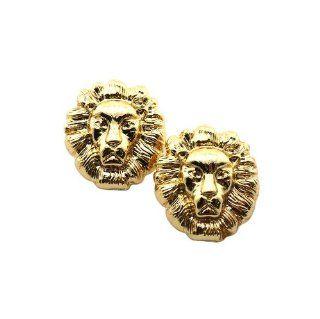 New Rihanna Gold Lion Head Pierce Earrings EMQ152G