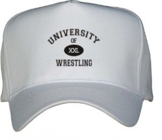 UNIVERSITY OF XXL WRESTLING White Hat / Baseball Cap