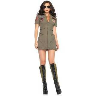 Leg Avenue Womens Top Gun Flight Dress Costume