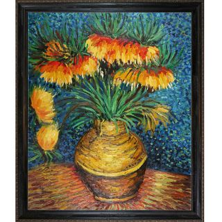 Vincent van Gogh Crown Fritillaries in a Copper Vase Framed Art