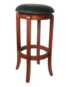 York Faux leather Nailhead Swivel Barstool