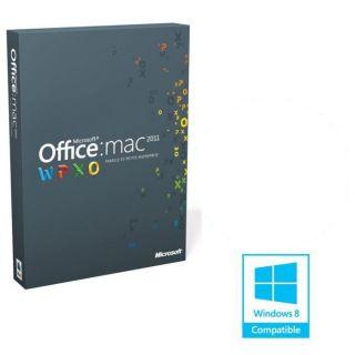 LOGICIEL BUREAUTIQUE Office Mac 2011 Fam. et Petite Entreprise (2 Mac
