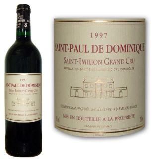 Château Saint Paul de Dominique 1997   Achat / Vente VIN ROUGE Saint