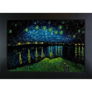 Van Gogh Starry Night Over Rhone Oil Painting