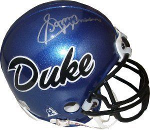 Sonny Jurgensen signed Duke Blue Devils Replica Mini