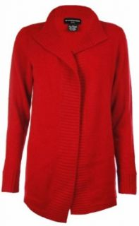 Sutton Studio Womens Cashmere Open Cardigan Sweater Misses