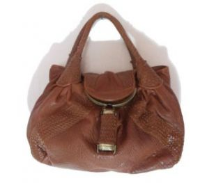 BESSO Light Brown Woven Leather Luxury Italian Shoulder
