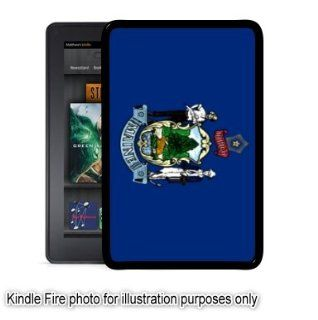 Maine State Flag Kindle Fire Black Case Cover Skin