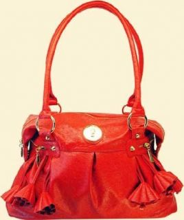 Glamorous Italian Designer Fine Faux Ostrich Handbag (AS 155