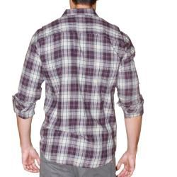 191 Unlimited Mens Purple Plaid Flannel Shirt