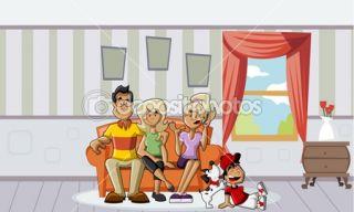 Happy cartoon family  Stock Vector © Denis Cristo #13654855