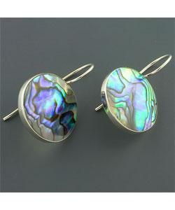 Rainbow Abalone Shell Silver Earrings (Indonesia)