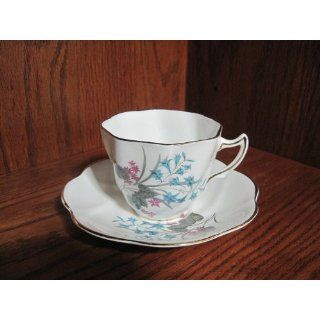Royal Seagrove Fine Bone China Cup and Saucer (white w/gold trim and