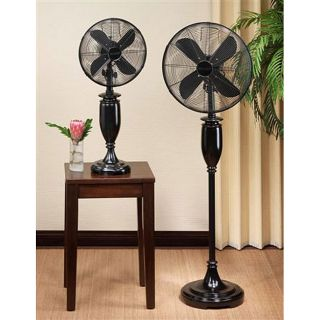 Deco Breeze Blackwood Bright 16 inch Standing Floor Fan