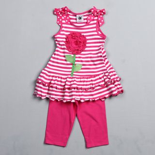Good Lad Toddler Girls Striped Tunic and Leggings Set
