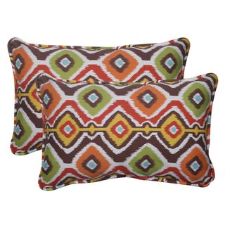 Pillow Perfect Outdoor Mesa Corded Brown Throw Pillows (Set of 2