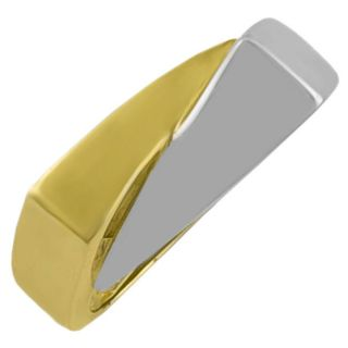 14k Two tone Gold Styled Modern Ring