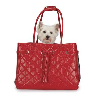 Zack & Zoey Vineyard Red Quilted Small Pet Carrier