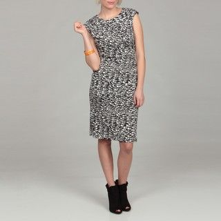 Connected Apparel Womens Printed ITY Dress