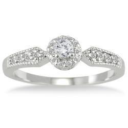 10k White Gold 1/4ct TDW Diamond Engagement Ring (I J, I1 I2