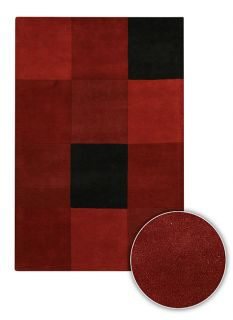 Hand tufted Contemporary Mandara Wool Rug (79 x 106)