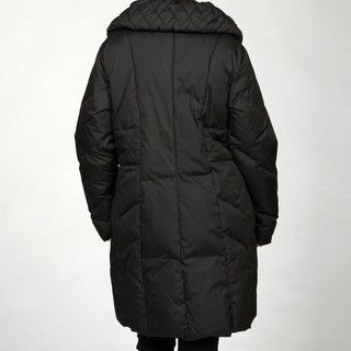 Larry Levine Womens Plus Size Down Coat