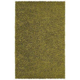 Hand woven Moss Green Chenille Rug (4 x 6)