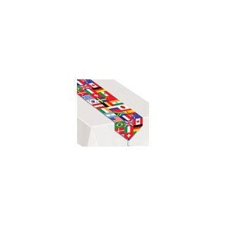 Printed International Flag Table Runner Party Accessory (1 count) (1