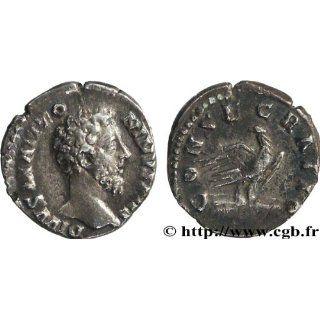 Marcus Aurelius 161 180 Ad Silver Denarius Coin Eagle Post