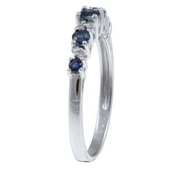 10k Gold Blue Sapphire / Diamond Accent Ring (G H,I1 I2)