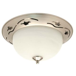Flush mount 2 light Brushed Nickel Ceiling Fixture