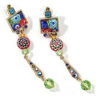 Sweet Romance Tango Millefiori Glass Earrings