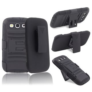 BasAcc Hybrid Case/ Stand/ Holster Combo for Samsung Galaxy S III/ S3
