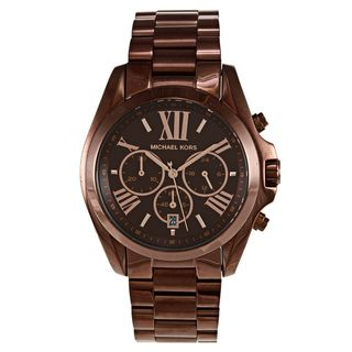 Michael Kors Womens Bradshaw Stainless Steel Brown Watch