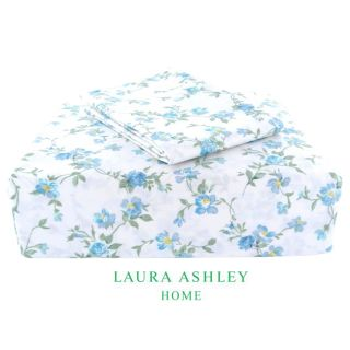 Laura Ashley Taylor 200 Thread Count Blue Twin size Sheet Set