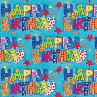 Jillson Roberts Recycled Gift Wrap, Birthday Wish, 6 Roll