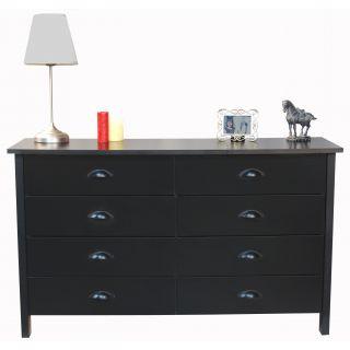 Venture Horizon Nouvelle Black Finish 8 drawer Lowboy Dresser Today