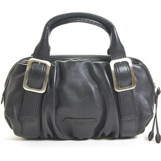 Cole Haan Village Soft E/W Black Ruched Satchel